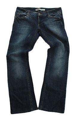 Only Damen Jeans Sammy Hose regular denim wash darblue used Bootcut