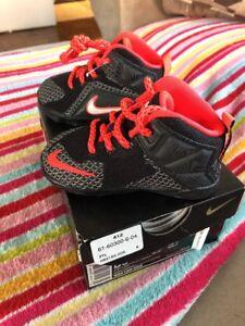 5a73f551784 Nike Lebron XII TD Shoes 685185 005 Size 5 5C Black Orange White With Box