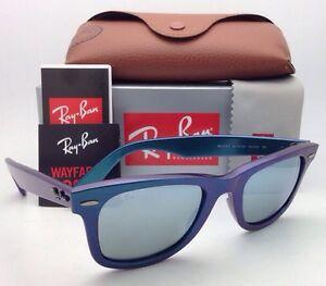 fe07342e22 Ray-Ban Sunglasses RB 2140 6113 30 50-22 WAYFARER Metallic Blue w ...