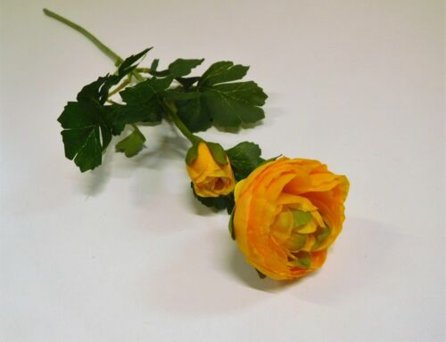 Ranunkel Seidenblume Kunstblume 55 cm orange gelb 42923-04 F11