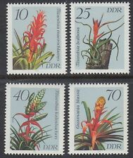 DDR East Germany 1988 ** Mi.3149/52 Blumen Flowers Flora Bromelien
