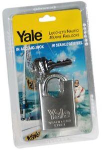 Cadenas-50mm-Tout-en-inox-Anse-Haute-Protection-Yale-2-cles