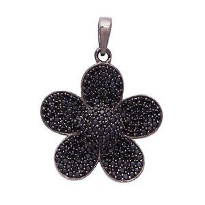 Wonderful-Black-Spinel-Shining-Gemstone-925-Sterling-Silver-Pendant-SHPN0828