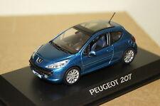 Peugeot 207 3p Grifte blau met.1:43 Norev neu + OVP 472733