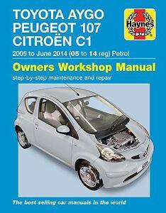 citroen c1 repair manual haynes manual workshop service manual 2005 rh ebay co uk Peugeot 108 Peugeot 107