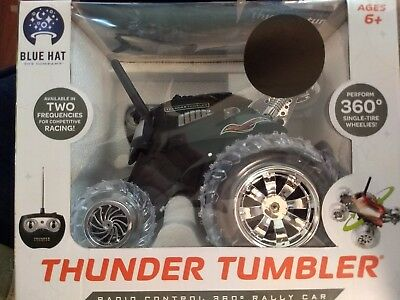 NEW IN BOX THUNDER TUMBLER BLACK RADIO CONTROL 360 RALLY CAR FOR AGES 6+