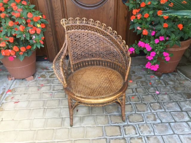 Antique Wicker Cane Chair Photograher's Posing Chair