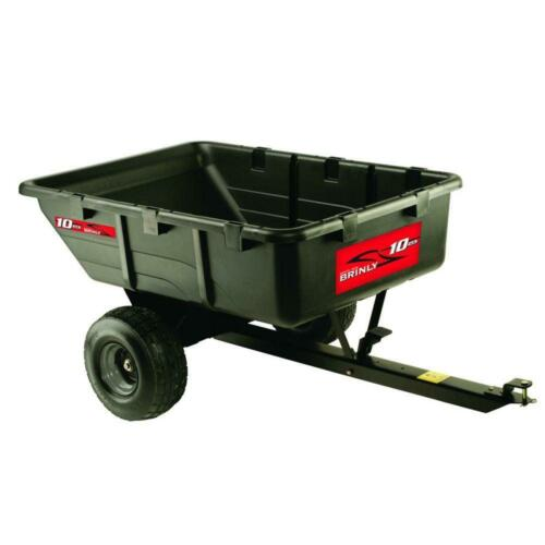 Utility 650 lb 10 cu ft Tow-Behind Poly Lawn Garden Tool Mulch Leaves