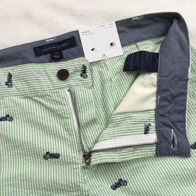 NWT Tommy Hilfiger Boys Motorcycle Print Striped Shorts 6