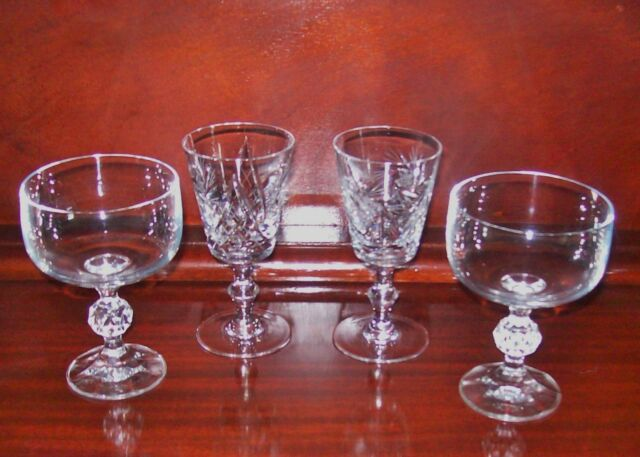 Four Crystal Glasses