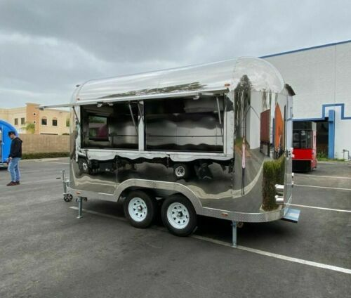 Details about  /NEW Electric Mobile Food Trailer Enclosed Concession Retro Vintage Style 4 Hitch