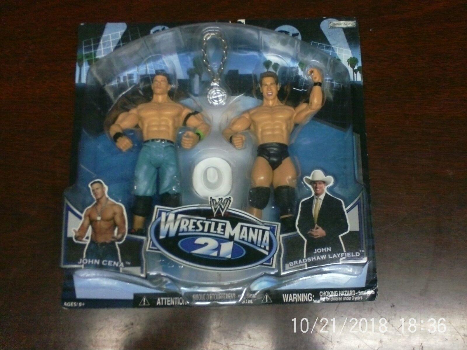 WWE Wrestle Mania 21 - John Cena - John Bradshaw Layfield