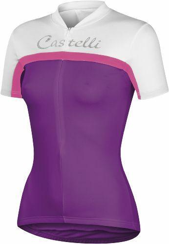 Castelli Promessa Women/'s Short Sleeve Cycling Jersey Purple FREE SHIPPING