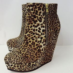 Timeless-Leopard-Print-5-034-Platform-Wedges-Brand-New-with-box-Size-3-UK-36-EU