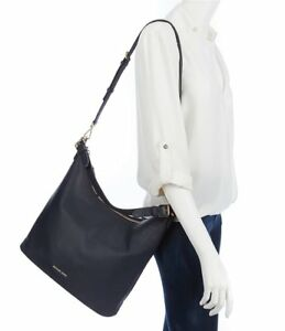 Image is loading NWT-Michael-Kors-Lupita-Large-Leather-Convertible-Hobo- 1248494d8207a