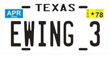 J.R. Ewing 3 Dallas TV show 1978 Texas License plate