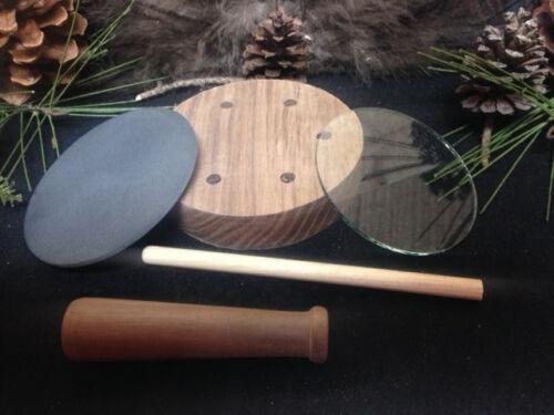 1-Custom Walnut Turkey Call Pot Call Kit Slate over Glass W// Striker