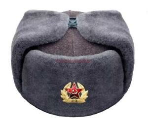 9b6c699eb2a74 Image is loading Cap-Ushanka-Hat-Military-Winter-Soviet-Soldier-Russian-