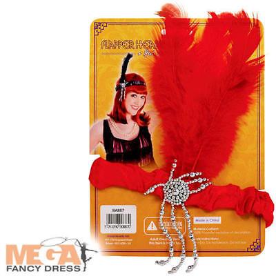 Ben Informato Red Flapper Piuma Fascia Per Capelli Donna Costume 1920s Gatsby Costume Accessorio-mostra Il Titolo Originale
