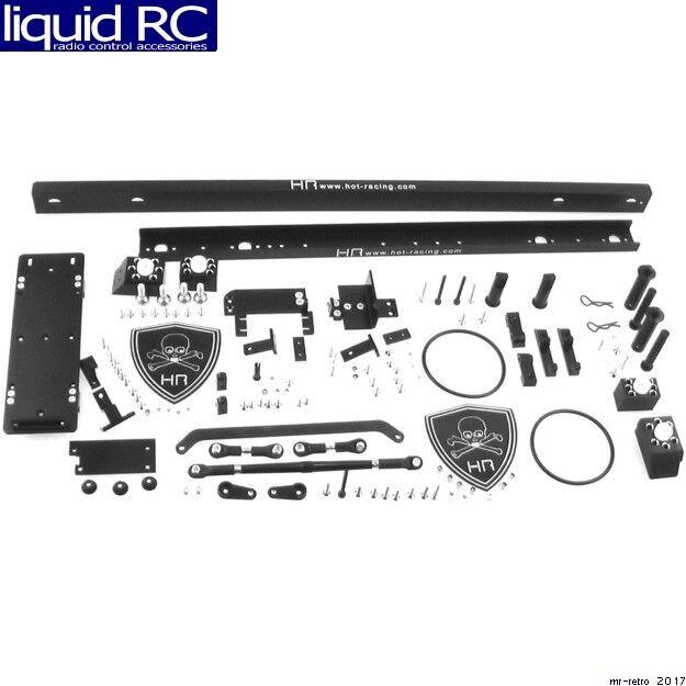 Hot Racing PBC1601 Tamiya Clodbuster pivote de Aluminio Negro Hueso Crawler conversio