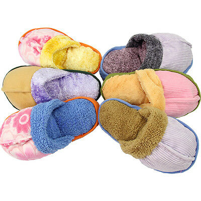 Dog Toy Pet Puppy Chew Play Squeaky Squeaker Cute Sound Plush Slipper Shape Hot