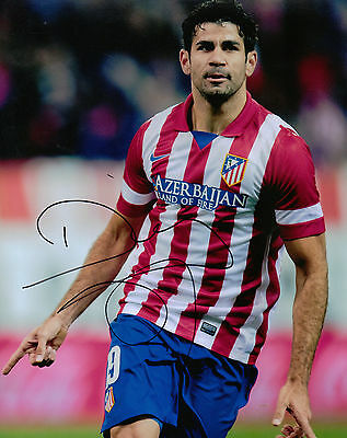 Diego Costa Genuine Hand Signed 10X8 Picture Atletico Madrid AUTOGRAPH (1158)