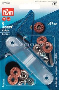 622238 Antico Prym Jeans Alloro 17mm Per Bronzo Con Bottoni qwOIHYZ