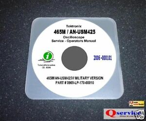 tektronix 465m an usm 425 v 1 service operating manuals 17 x11 rh ebay com Tektronix Oscilloscope tektronix 465m service manual