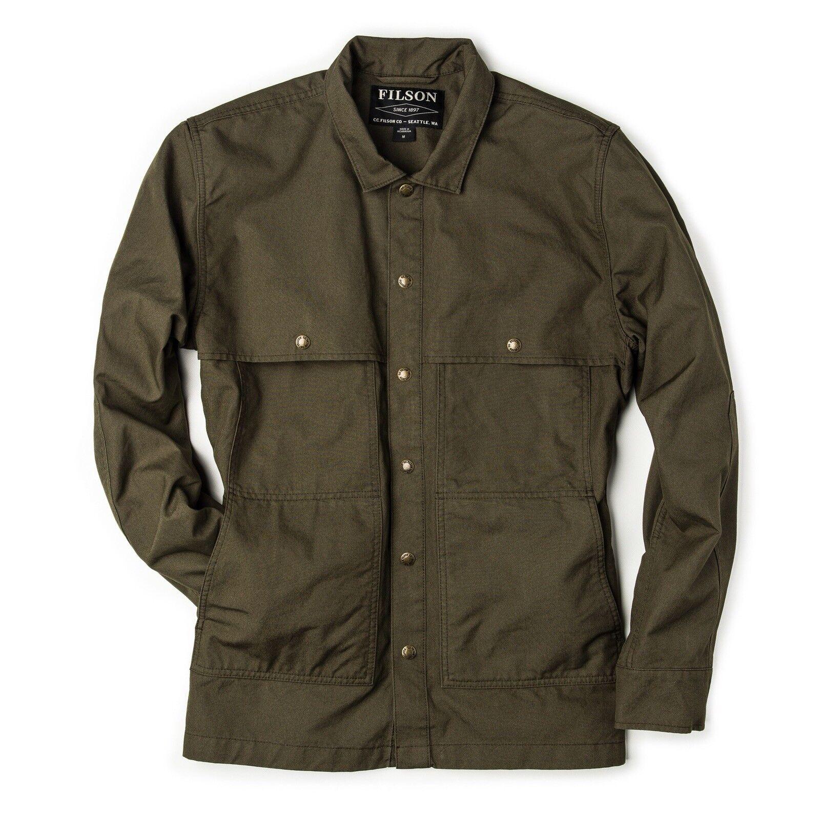 NWT Filson 165 SOLD OUT Lightweight Jac Shirt  Herren L Otter Grün Camp Fish
