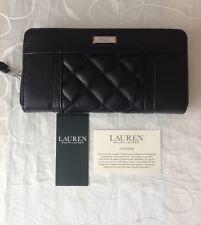 Ralph Lauren Women's Black Leather Zipped Wallet /Purse