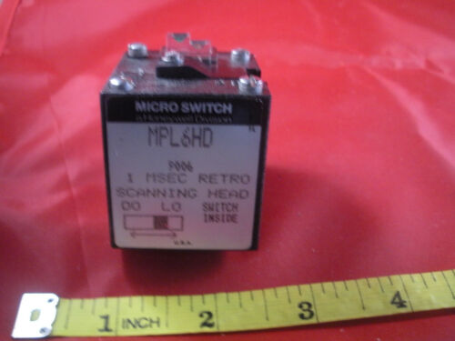 Honeywell Microswitch MPL6HD Sensor Retro Scanning Head Photoelectric MSEC used
