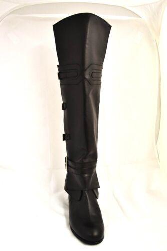 Boots Ezio Vera Pelle Auditore Creed Nera Assassin's Stivali Artigianali Cosplay dxshQrtCoB