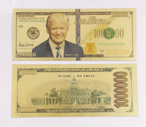 10-Pcs-Gold-Foiled-Banknote-Plated-Donald-Trump-US-Dollar-1-Million-Crafts-Gift