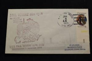 Navale-Cover-1973-Nave-Cancel-SHIP-039-S-Marchio-Uss-Paolo-Revere-LPA-248-4850