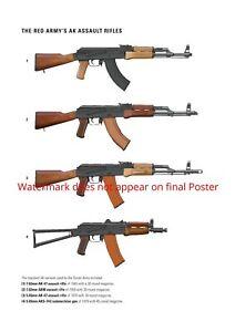 Poster Print Firearm Art Ak 47 Ak 47 Akm Aks Kalashnikov Rifle