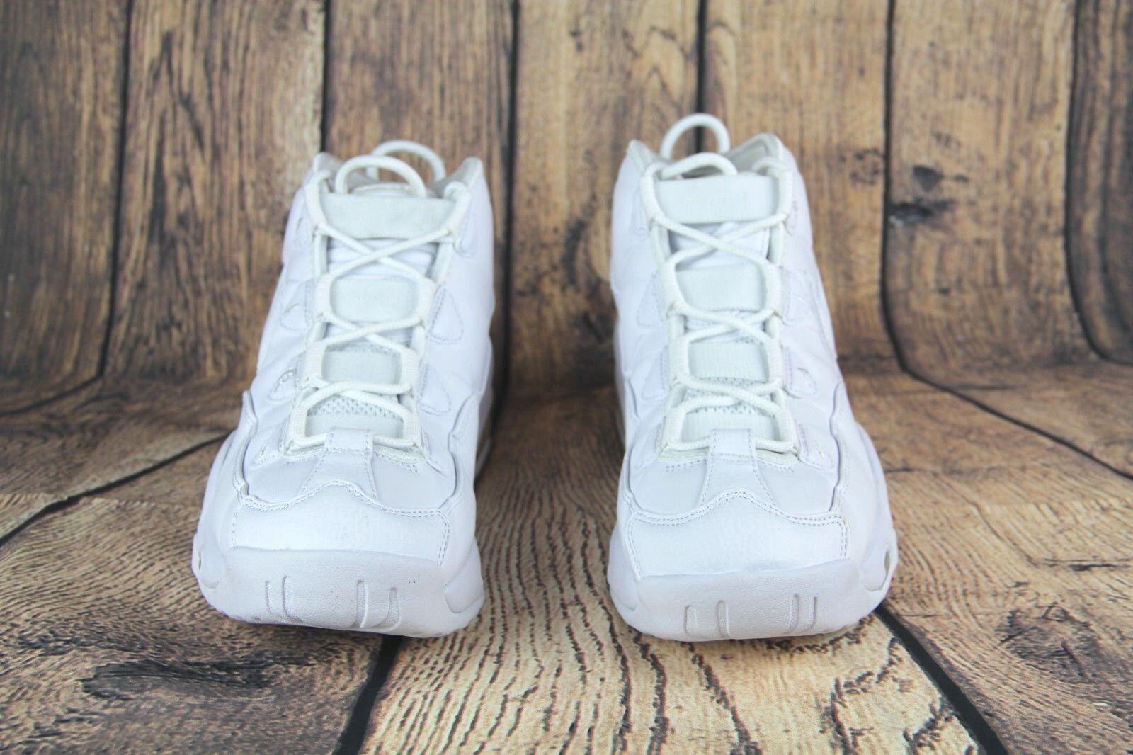 Buy Nike Air Max Uptempo 95 Triple White Classic Men Basketball ... 563a9fb05