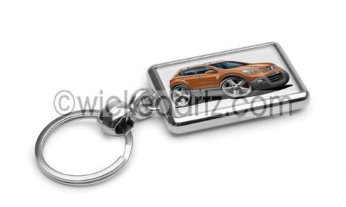RetroArtz Cartoon Car Nissan Qashqai in Metallic Bronze Premium Metal Key Ring