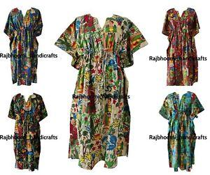 beach wear dress Women Kaftan 100/% cotton light weight summer Kaftan long maxi Gown nightwear Frida Kahlo Print