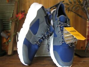 AVIA-MENS-ATHLETIC-SHOES-SIZE-12-BLUE-WHITE-CASUAL-SNEAKERS-LACE-UP-ELASTIC-ANKL