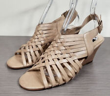c7a6541837a Buy Steve Madden Rise Wedge Sandal Nude Shoe Size 9 NWB online