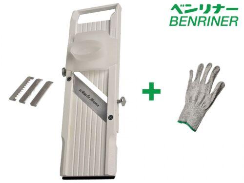 Protection Gant BENRINER Mandoline Légumes Rabot 64//95//120 mm blanc avec gravure