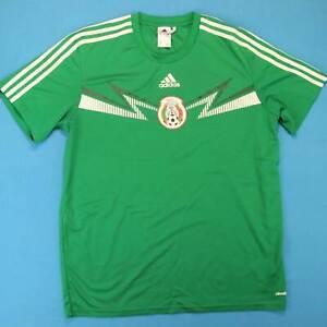 Mexico-Adidas-Camiseta-de-Futbol-Hombre-LARGA-Nacional-Equipo-Verde