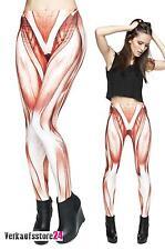Muskel LEGGINS Hose Muster Leggings Damen Print Leggings Farb Leggings Halloween