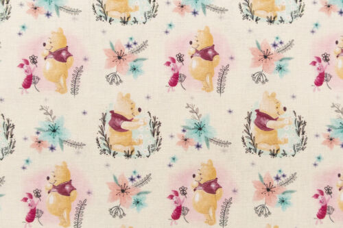100/% Cotton Quilting and Crafts Flowers Design Disney Winnie the Pooh Fabric