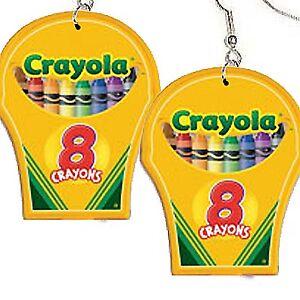 Funky-Big-CRAYOLA-CRAYON-BOX-EARRINGS-Art-Drawing-School-Teacher-Costume-Jewelry