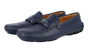 40 5 New Blau Luxus 5 Schuhe Slipper Logo 2d2170 6 Neu 41 Prada wqpPCv