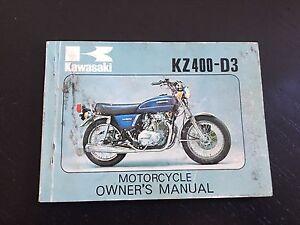 kawasaki owners manual kz400-d3 | ebay