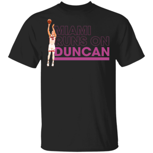 Duncan Robinson T-Shirt Miami Runs On Duncan Men/'s Tee Shirt S-5XL