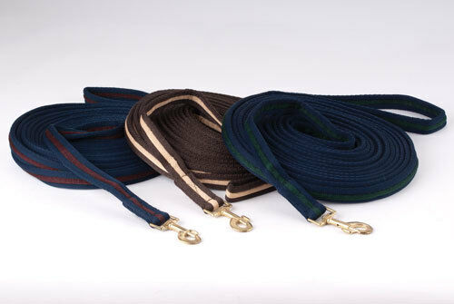 Rhinegold Lunge Line padded supersoft cushion web lunge rein  rope. 8m approx.