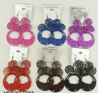 Wholesale Jewelry Lot 6 Pairs Drop Style Colorful Dangle Fashion Earring Pp2